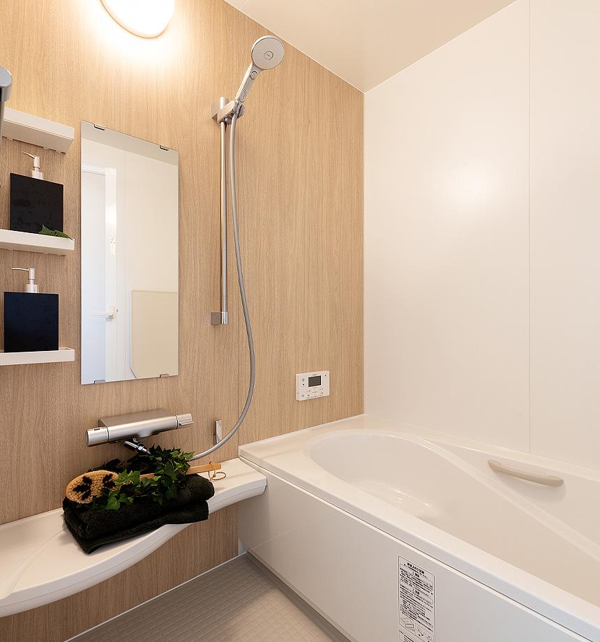 ユニットバスは、LIXIL アライズを採用。アライズのコンセプトは、「もっと、お風呂が好きになる」です。リラックスできる空間になりました。