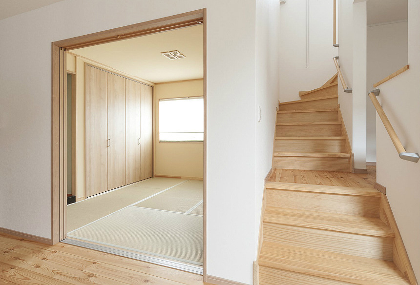 LDKに隣接する場所に和室を設けました。