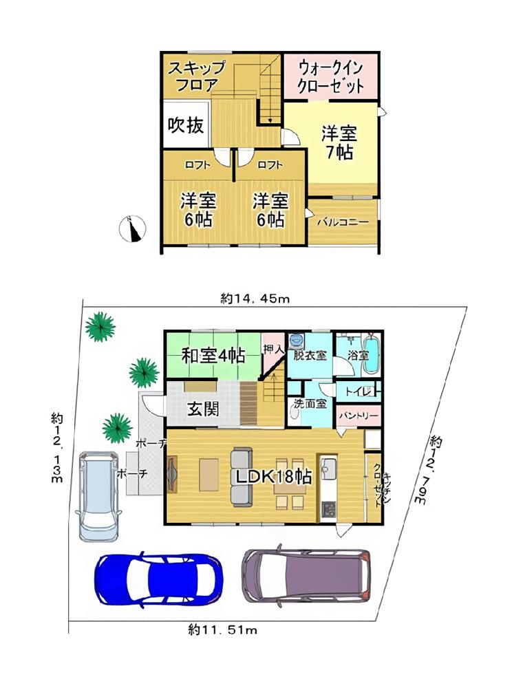 木村工務店モデルハウス:間取り