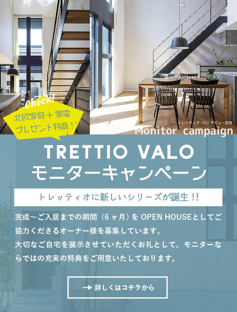 TRETTIO VALO モニターキャンペーン、モニター参加オーナー様には充実の特典をご用意いたしております